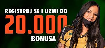 BONUS DO 20.000 ZA NOVE IGRAČE